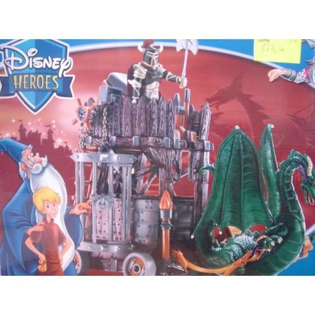 Disney Heroes Wieża ze Smokiem Król Artur i Merlin
